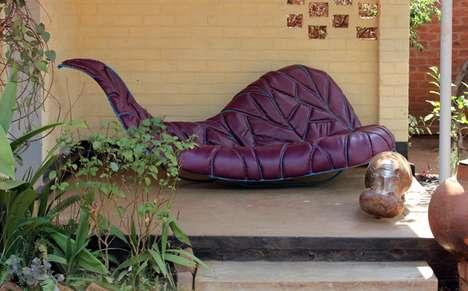 Cradling Leaf Sofas