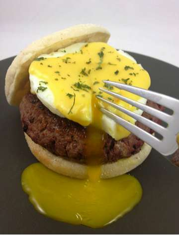 Breakfast-Infused Hamburgers