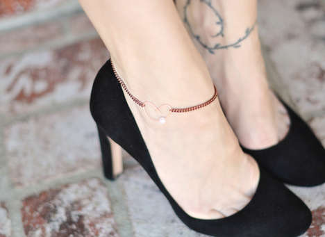 DIY Heart-Shaped Foot Bracelets