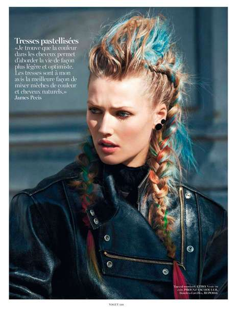 Rainbow-Haired Punk Editorials