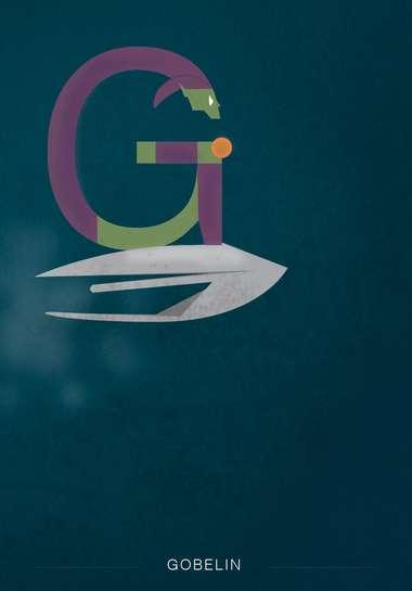Charming Typographic Superheroes