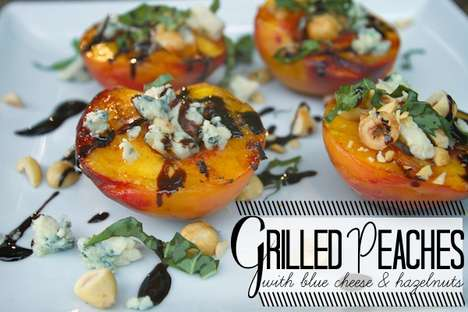 The Shutterbean Grilled Peaches with Blue Cheese Recipe is Mouth-Watering