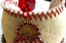 Customized Sports Bangles - These Baseball Cuffs by Lisa Kettell are One-of-a-Kind