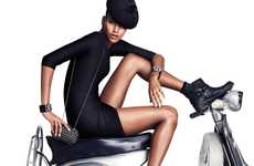 Scooter-Centric Style Books - The H&M Accessories 2012 Catalog Stars Jessica Stam and Arlenis Sosa