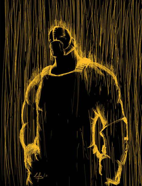 Supervillain Silhouette Sketches - Eduardo Cortes Trujillo Illustrates Batman's Toughest Enemies