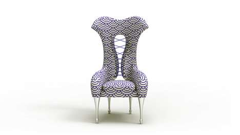 Chic Curvaceous Seats - The Victorias Wing Chair by Xin Wen is Magnificent
