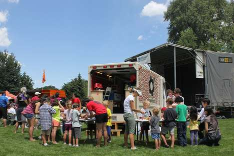 Mobile Kiddie DIY Labs - SparkTruck is a Traveling Creation Center for Children