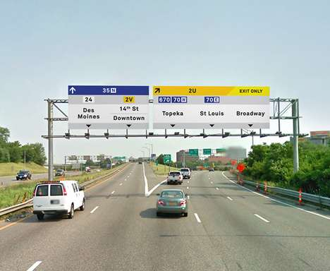 Visually Intuitive Sign Systems - The Manual Highway Sign Redesign Makes Life Easier
