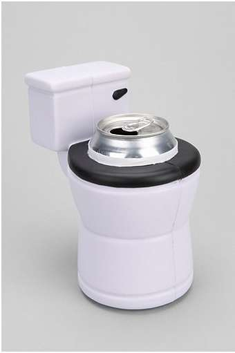Bathroom-Themed Beer Holders