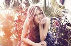 Faded Country-Chic Lookbooks - Jennifer Aniston for Elle France August is Charming