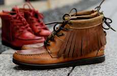 Fierce Fringed Moccasin Boots - Ronnie Fieg Tomahawk Shoe is a Native-Inspired Hipster Treasure