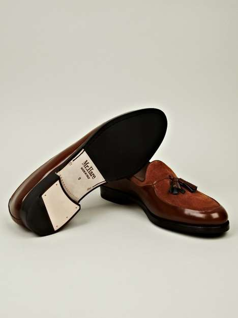 Luxe Leather-Mixed Loafers