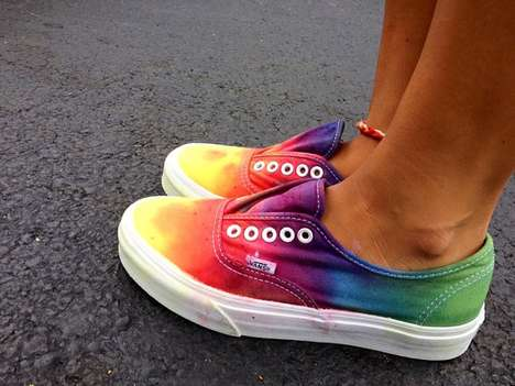 These Custom Tie Dye Vans are Psychedelically Stylish