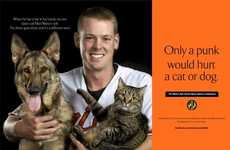 Pet-Protecting Men - The 'Show Your Soft Side' Campaign is Purr-fect