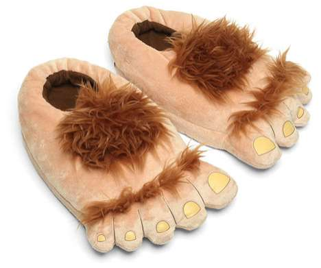Furry Feet Warmers - These Plush Halfling Slippers Let Users Pretend They're Hobbits