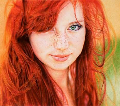 Photoreal Pen Drawings - Samuel Silva Manipulates Ballpoints into Mesmerizing Masterpieces