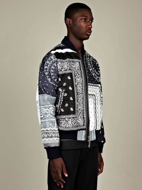 The Christopher Shannon Paisley Bomber Jacket Stitches Prints Together