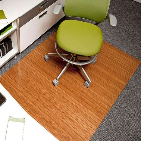 The Bamboo Roll up Office Mat is Ideal for Home Offices