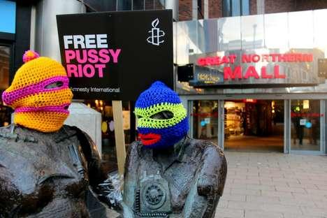 Commandeered Statue Protests