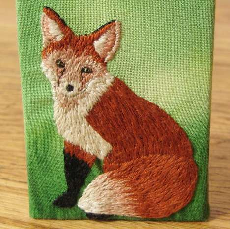 Time Lapse Embroidery Videos - The 'How Did You Make This' Hand Stitched Fox Clip is Enthralling
