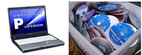 Dutiful Disc Recycling Programs - Fujitsu is the First of the PC Industry to Recycle Discs