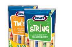 Drawing Utensil Dairy Snacks - The 'Crayola Crayon String Cheese' is Great for Back to S