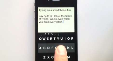 The Fleksy Touchscreen Keyboard can Even be Used by the Blind