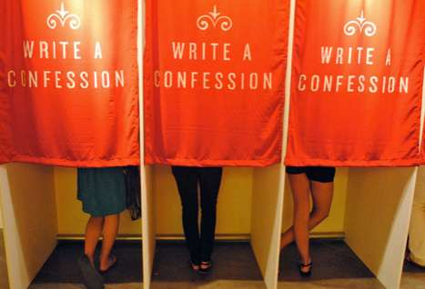 Sin City Truth Booths - Candy Chang's Confessions Gives Vegas Goers a Chance to Come Clean