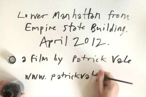 High-Speed City Sketches - The 'Empire State of Pen' Video is a Manhattan Timelapse Drawing