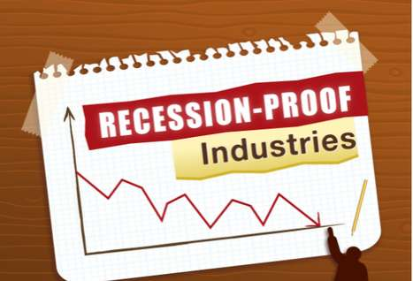 Unemployment Upside Charts - The Recession-Proof Industry Infographic Shows Safe Sectors