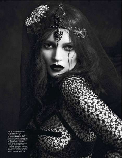 100 Blackout Editorials - From Gothic Monarch Captures to Raven Forest Mavens