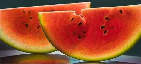 Magnified Fruit Paintings