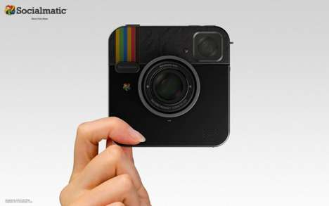 Social Media Cameras (UPDATE) - The Socialmatic Camera Now Comes in a Hot Black Design