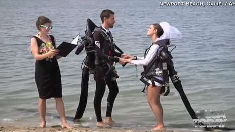 Jet Pack Wedding Ceremonies - Amanda Volf and Grant Engler Marry in Style