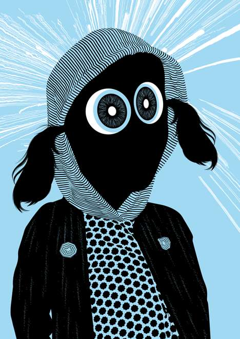 Chic Bug-Eyed Cartoons - Jules Julien Illustrates Fashionable Characters with Huge Ocular Organs