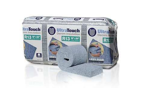 Jeans-Based Building Materials - The UltraTouch Denim Insulation is Now Available at Lowe's