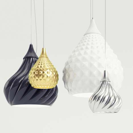 Pendant-Inspired Lighting - The Ruskii + Ruskii Twist Lamps by Enrico Zanolla are Extravagant