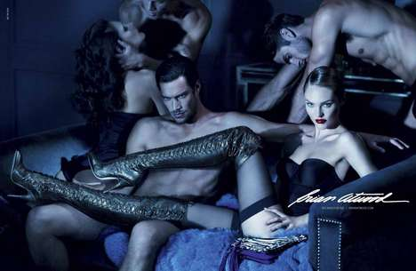 Racy Cinematographic Shoe Films - The Candice Swanepoel Brian Atwood Campaign Sparks Controversy