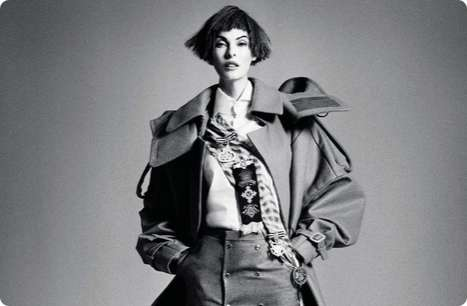 Grayscale Menswear Captures - Linda Evangelista for Interview Russia is Sophisticated