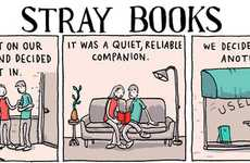 Literary Junkie Illustrations - This 'Stray Books' Comic by Grant Snider Details Literature Overload