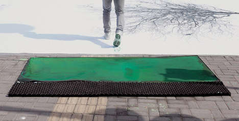 Artistic Environmental Sidewalks - Jody Xiong Creates a Green Crosswalk to Spread Awareness