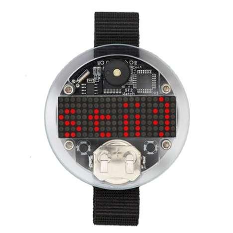 Bare-Bones LED Timepieces