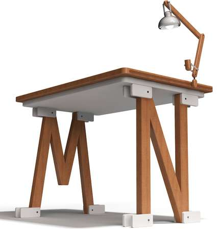Levitating Lettered Workstations - The Liviu Avasiloiei Persona Desk is Completely Customizable