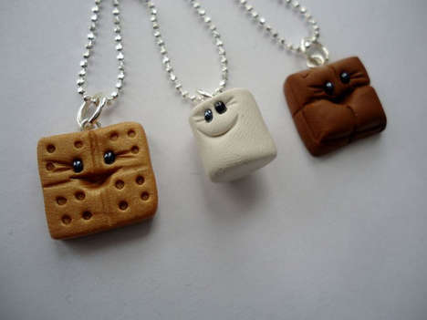 Charming Campfire Treat Trinkets - These S'mores Buddies Best Friends Necklaces are Charming
