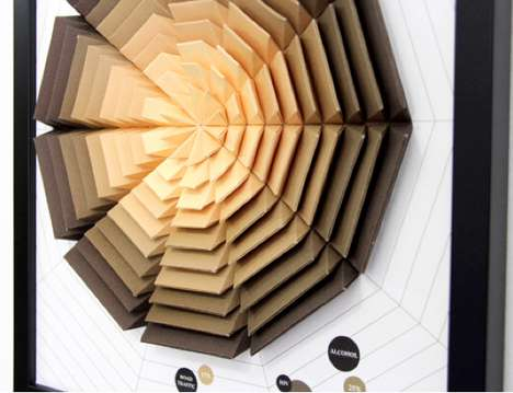 Origami Mortality Infographics - The Siang Ching Paper Charts are Masterfully Crafted