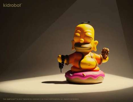 Enlightened Cartoon Character Toys - The Homer Buddha Figurine Casts the Lovable Dad as a Deity