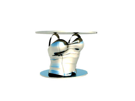Lingerie-Inspired Furniture - The Corset Table by Agnieszka Muszynska is Naughty