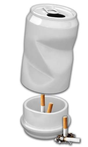 Beer Can Ashtrays