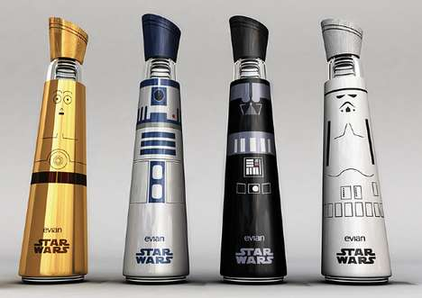 Galactic Elixir Vessels - The Evian Star Wars Bottle Design is Out of This World