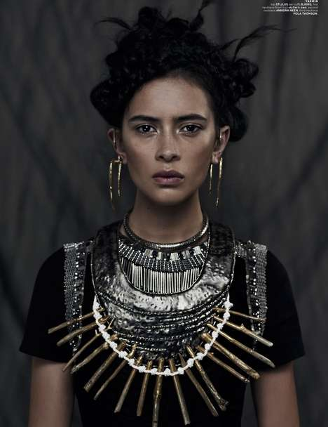 Couture Warrior Princesses - Fashionistas are Called to Battle in the Xi Sinsong 'Wahine' Series